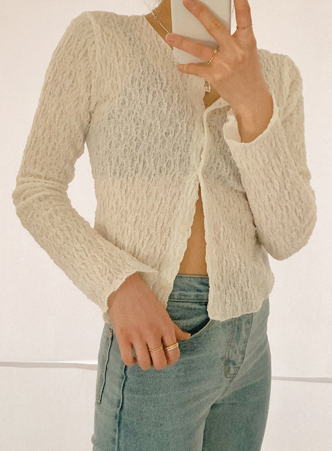 [APPAREL] simple cardigan top (2 colors)