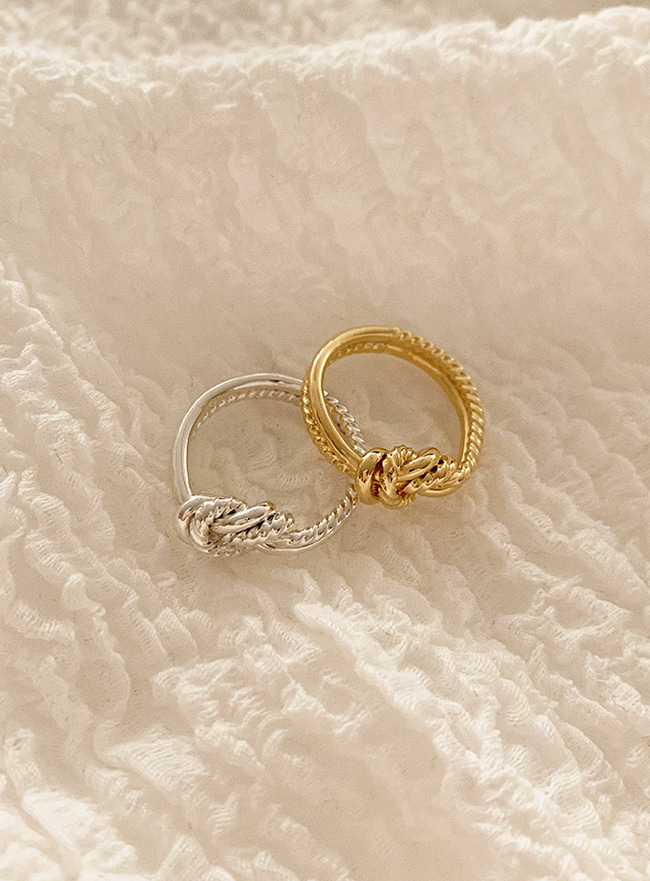 (Silver 925) harmonious ring (2 colors) (5 sizes)