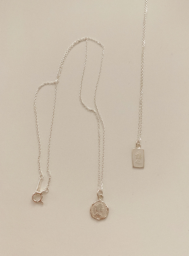 (Silver 925) mini pendant necklace (2 types)