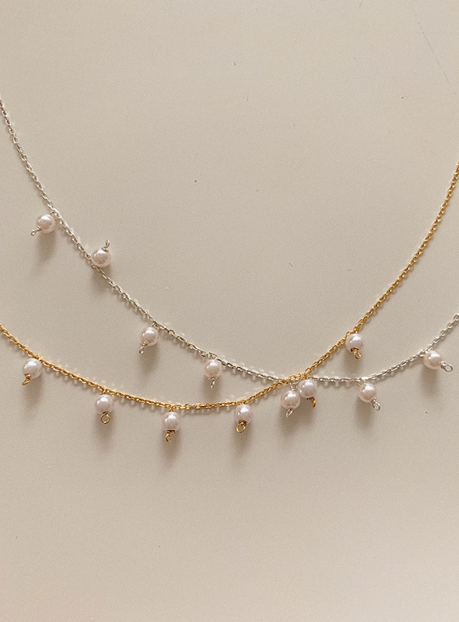 (Silver 925) 7 pearls necklace