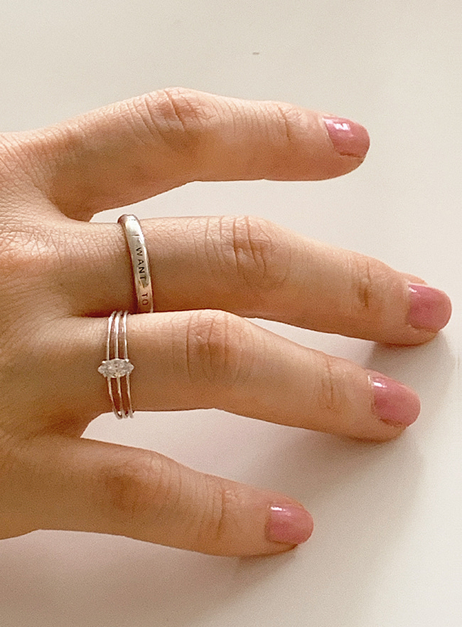 (Silver 925) starry cubic ring (3 sizes)