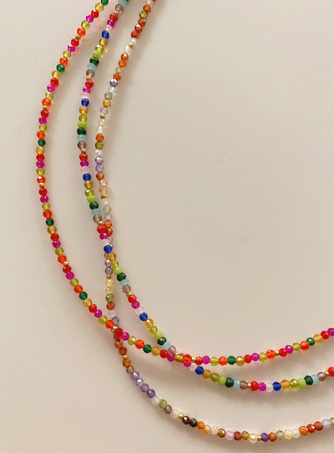 candy crystal necklace (3 colors)