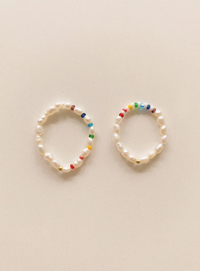 rainboe dot ring (2 colors)