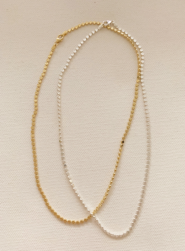 (Silver 925) round chain necklace
