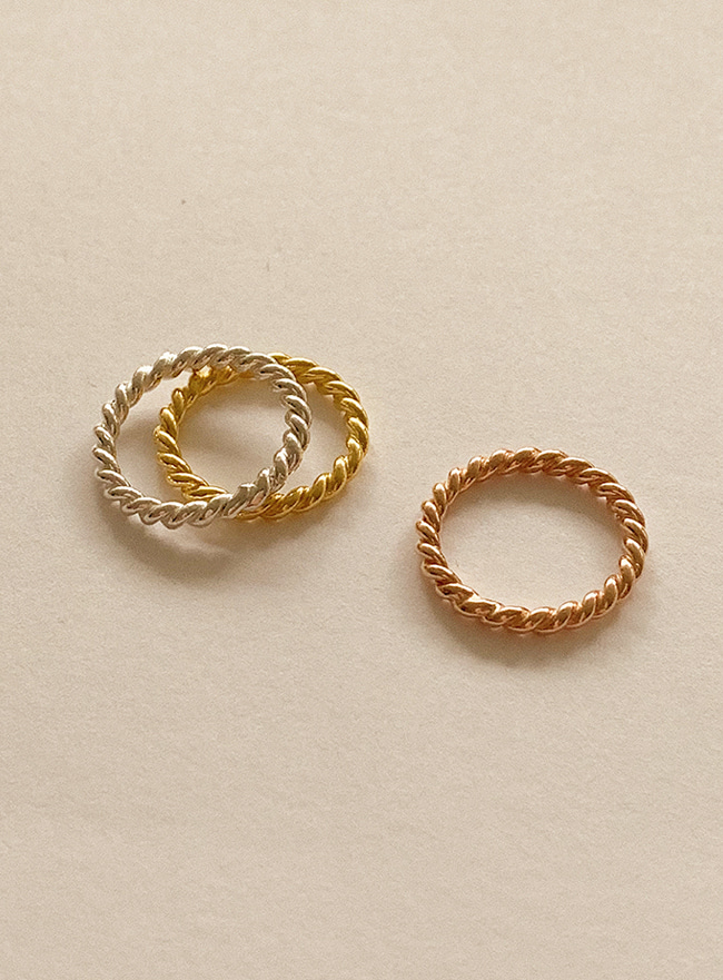 (Silver 925) twist ring 2 (9 sizes)