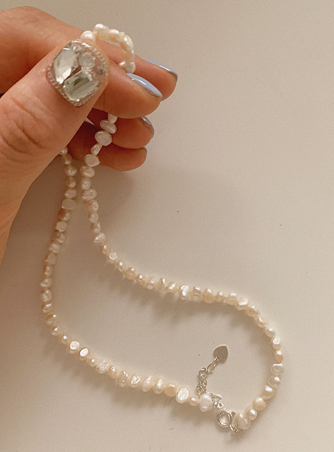 (Silver 925) pearl necklace