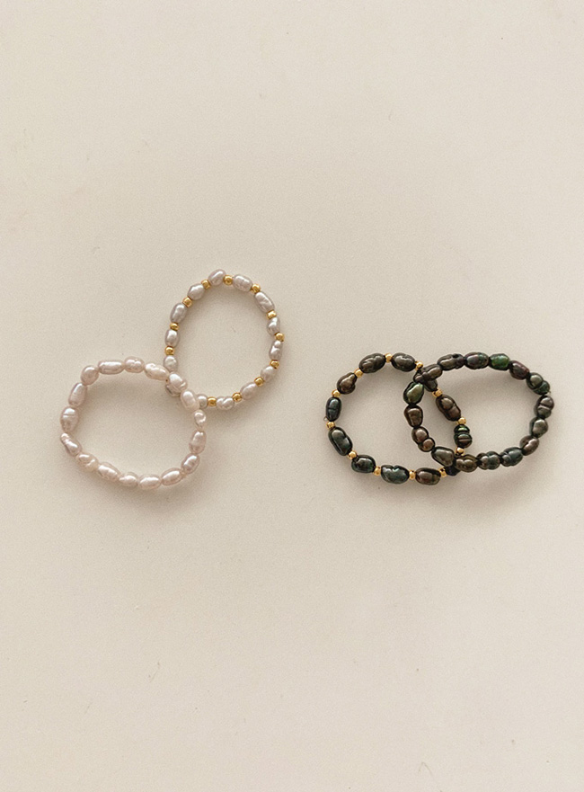 new pearl of pearl ring (2 types) (2 colors)