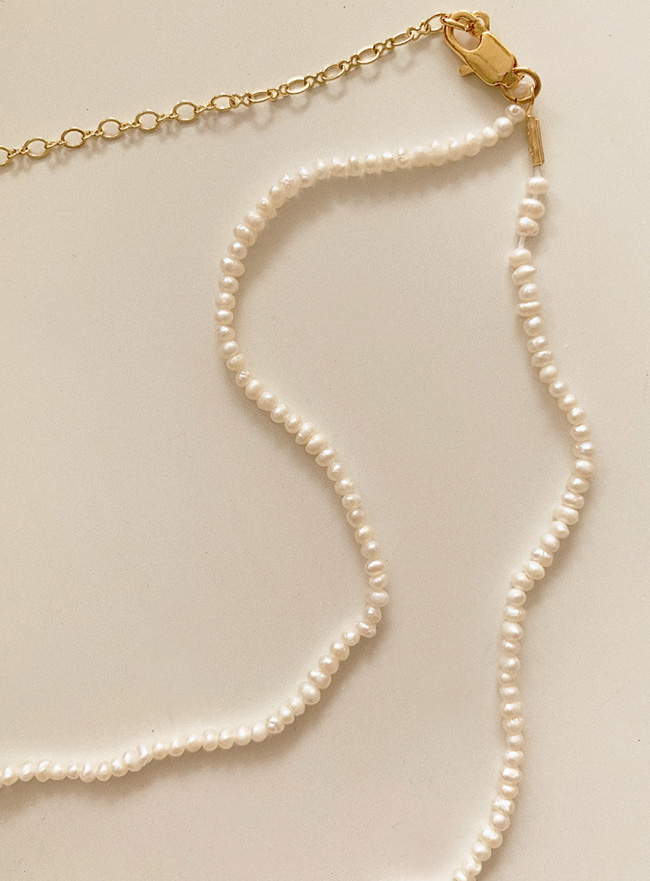 tiny pearl of pearl necklace