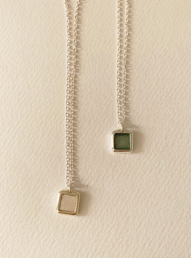 new mini nacre necklace (자개, 2 colors) (Allergy free)