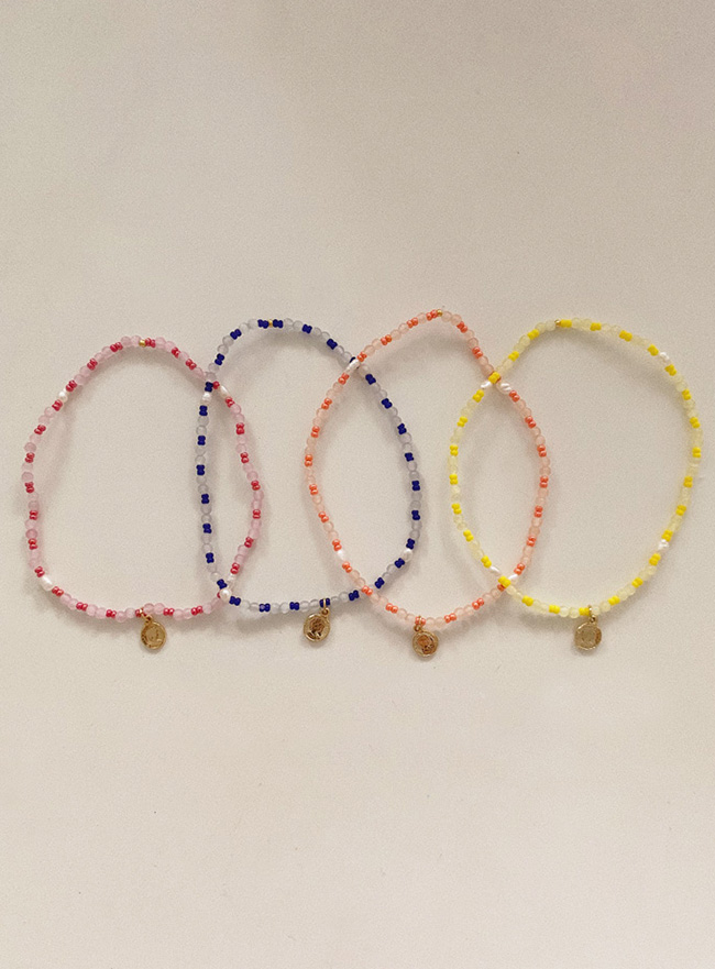 coin beads bracelet (4 colors)