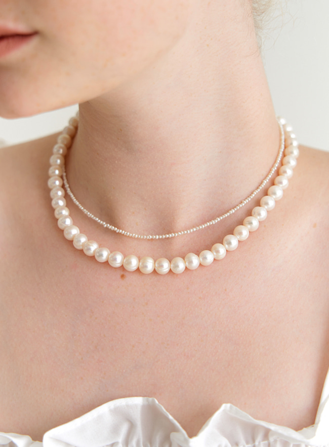 [DEEPBROW SEO] gorgeous fresh water pearl necklace (Silver 925)